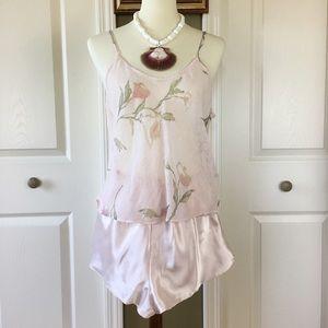 🌸Camisole Set Crinkle Floral Print Pink 🌸Sz S/M